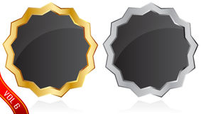 Gold and silver badge Stock Photography
