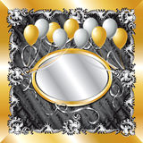 Gold & Silver Balloon Background Royalty Free Stock Photo