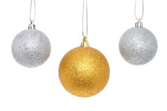 Gold and silver balls Royalty Free Stock Photos