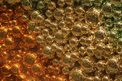 Gold and silver baubles ball Royalty Free Stock Photography