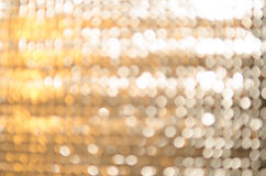 Gold and silver bokeh royalty free stock image
