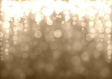 Gold and silver bokeh background. Gold and silver Christmas abstract bokeh glitter lights festive background. Gray beige circle bokeh texture. Space for text Stock Photos