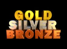 Gold-silver-bronze Stock Photo