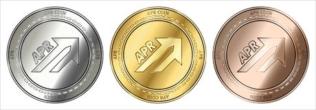 APR Coin (APR) coin set. stock photos