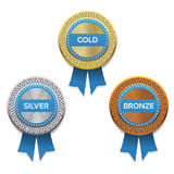 Gold, silver and bronze awards. Vector. Stock Photos