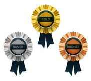 Gold, silver and bronze awards. Vector. Royalty Free Stock Photography
