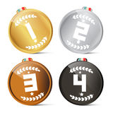 Gold Silver Bronze and Black Symbols Royalty Free Stock Photography