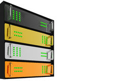 Gold Silver Bronze Diamond Server Rack Hosting Royalty Free Stock Photography