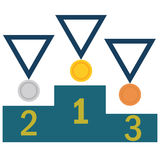 Gold ,Silver,Bronze medal set. Stock Photography