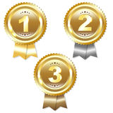 Gold Silver And Bronze Medals Royalty Free Stock Photos