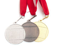Gold,silver and bronze medals Stock Photography