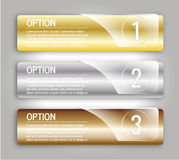 Gold silver bronze options banners Stock Photo