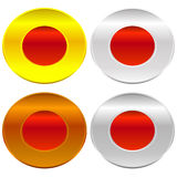 Gold, silver, bronze and platinum badges / butotns Stock Image