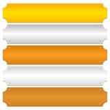 Gold, silver, bronze, platinum, copper metal bars, banner backgr Stock Image