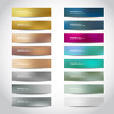 Gold, silver, bronze vector banners Royalty Free Stock Image