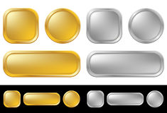 Gold and silver buttons Royalty Free Stock Image