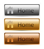 Gold and Silver Buttons house.  Royalty Free Stock Photo