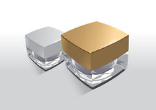 Gold and silver cap bottles Stock Photo
