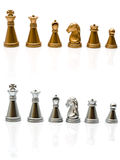 Gold and silver chess Royalty Free Stock Photography