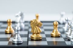 Gold and silver chess stock images