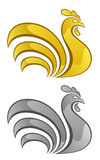 Gold and silver chick. On a white background Stock Images