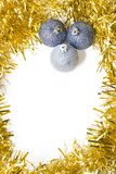 Gold and silver Christmas background Royalty Free Stock Photos