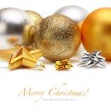 Gold, silver Christmas balls. Gold and silver Christmas balls royalty free stock photo