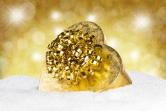 Gold silver christmas balls Royalty Free Stock Photography