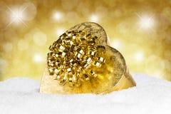 Gold silver christmas balls royalty free stock photography