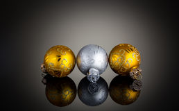 Gold And Silver Christmas Decoration Stock Photo