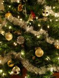 Gold and Silver Christmas Tree Stock Photography