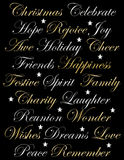 Shiny Happy Christmas Words Stars Stock Image