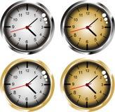 Gold & silver clock Royalty Free Stock Photos