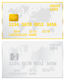 Gold And Silver Credit Card vector illustration