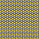 Gold and silver crystal sequins seamless pattern Stock Image