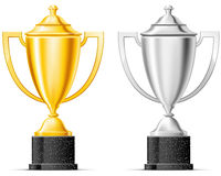 Gold and silver cup royalty free illustration