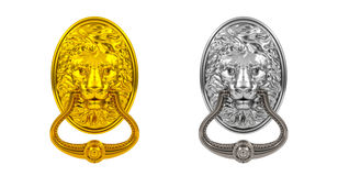 Gold and silver doorknocker Stock Photo