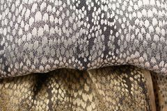 Gold and silver fabric background Stock Photography