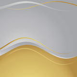 Gold/silver frame Stock Image