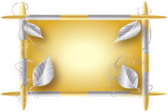 Gold and Silver Frame Stock Image