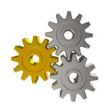 Gold and silver gears Royalty Free Stock Photo