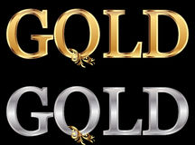 Gold and silver gold word Royalty Free Stock Photo