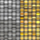 Gold and silver gradients stock illustration