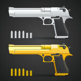 Gold and silver gun Stock Photography