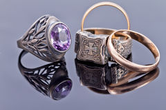 Gold and silver jewelry Stock Image
