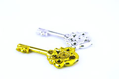 Gold and silver keys Stock Photography