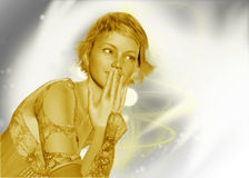 Gold and Silver Lady template Royalty Free Stock Photos