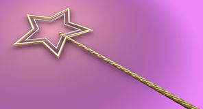 Gold And Silver Magic Wand Royalty Free Stock Photo