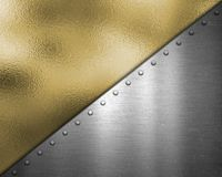Gold and silver metallic texture background. Gold and silver abstract metallic texture background stock illustration