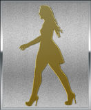 Gold on Silver Modelling Emblem Royalty Free Stock Photos